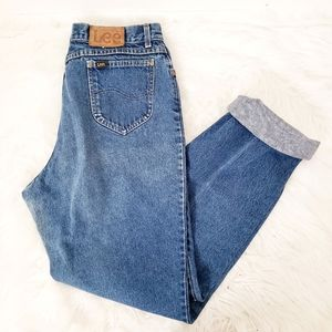 Vintage 90s Lee High Rise Distressed Mom Jeans
